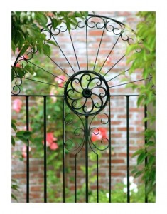Wrought iron gate photograph by Carolyn Jones